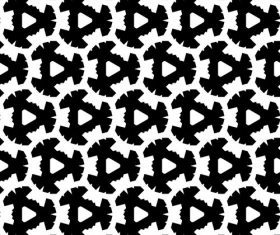 Black with white geometric seamless pattern vector 04