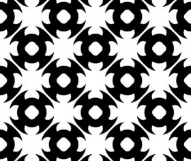 Black with white geometric seamless pattern vector 06