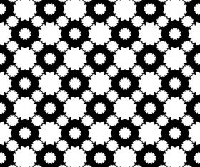 Black with white geometric seamless pattern vector 07
