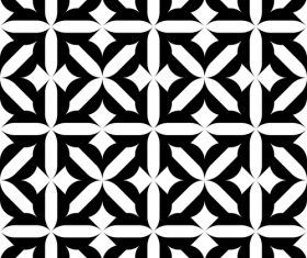 Black with white geometric seamless pattern vector 08