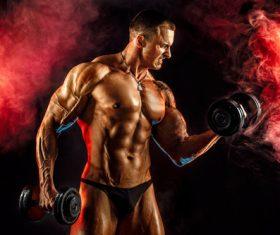 Bodybuilder Muscular Man Stock Photo 01