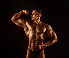 Bodybuilder Muscular Man Stock Photo 02
