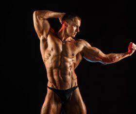 Bodybuilder Muscular Man Stock Photo 05