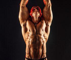 Bodybuilder Muscular Man Stock Photo 06