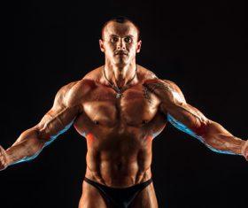 Bodybuilder Muscular Man Stock Photo 08