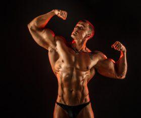 Bodybuilder Muscular Man Stock Photo 09