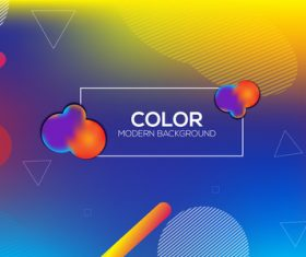 Brilliant colored abstract background vectors 01