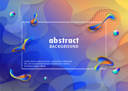 Brilliant colored abstract background vectors 03