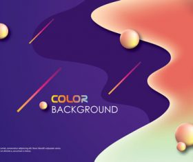 Brilliant colored abstract background vectors 05