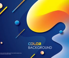 Brilliant colored abstract background vectors 07