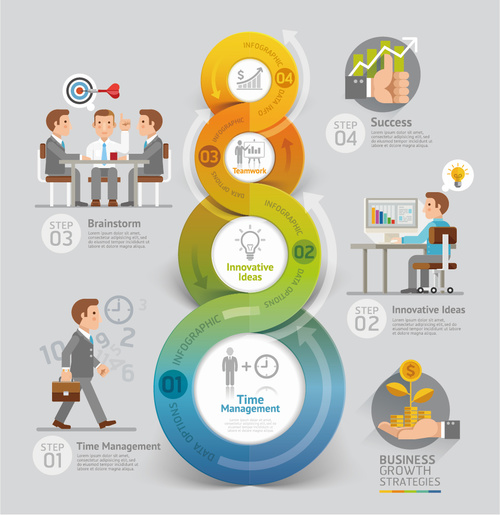 Business Benefit Growth Strategy Infographic Vector