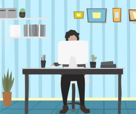 Business people working in the office vector