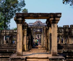 Cambodia Angkor Wat scenery Stock Photo 06