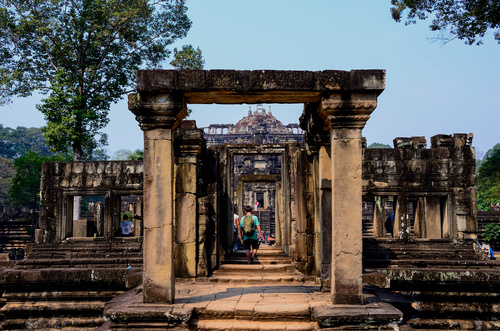 Cambodia Angkor Wat scenery Stock Photo 06
