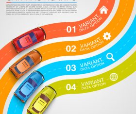 Car racing infographic vector template 01