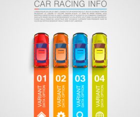 Car racing infographic vector template 04