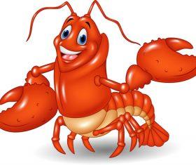 Cartoon funny lobster illustration vector 01