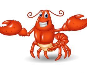 Cartoon funny lobster illustration vector 02