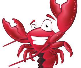 Cartoon funny lobster illustration vector 06