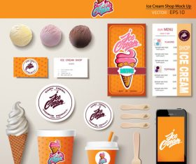 Cartoon ice cream vector