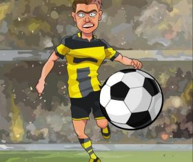 Cartoon soccer player design vector