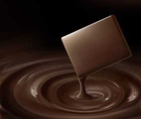 Chocolate background template vectors