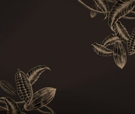 Chocolate beans with brown background vectors