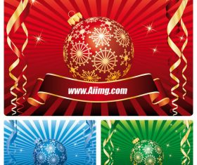 Christmas ball radiation background vector material