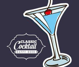 Classic cocktail retro vectors 01