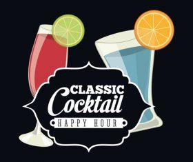Classic cocktail retro vectors 02