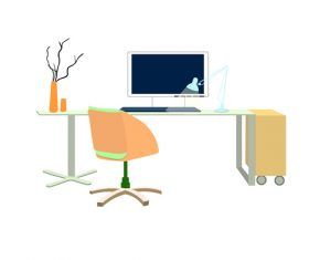 Clean desk illustration design vector