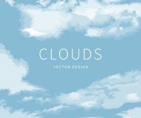Cloud backgound vector design