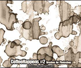 Coffee Happens Photoshop Brushes