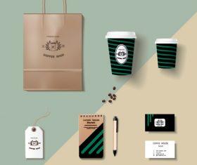 Coffee cup coffee handbag material vector 02