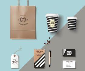 Coffee cup coffee handbag material vector 03