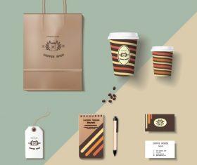 Coffee cup coffee handbag material vector 06