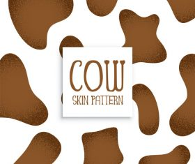 Cow skin pattern vector material 01