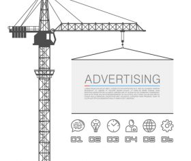 Crane infographic template vectors 05