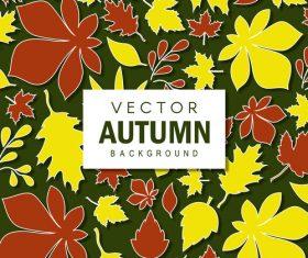Creative autumn leaves background vectors 02