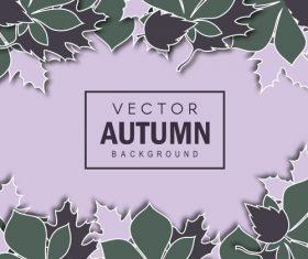 Creative autumn leaves background vectors 03
