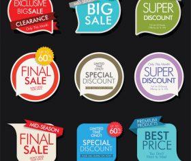 Creative colored sale sticker vector material 01