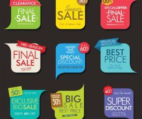Creative colored sale sticker vector material 02