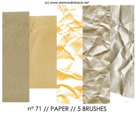 Crumpled paper Photoshop Brushes