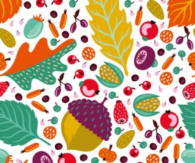 Cute fashion fruit background material vector
