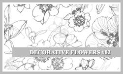 Decor Flower Photoshop Brushes set