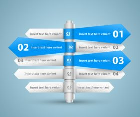 Direction list with options Infographic vector 05