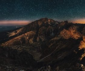 Dolomite under the starry sky Stock Photo