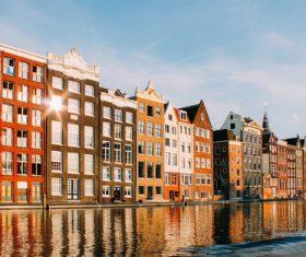 Dutch city landscape Stock Photo 01