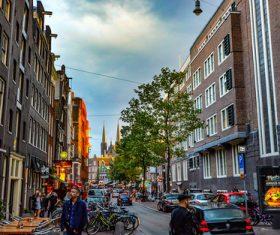 Dutch city landscape Stock Photo 03