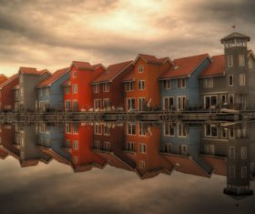 Dutch city landscape Stock Photo 07